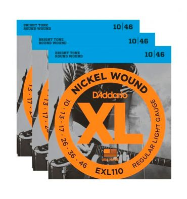 D'addario Cuerdas G Electrica Regular Light .010 - .046 - 3 Pack