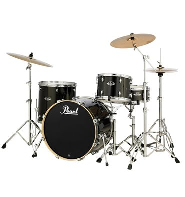 Pearl Export EXX 4-piece Drum Set w/ Cymbals - Black Gold Sparkle