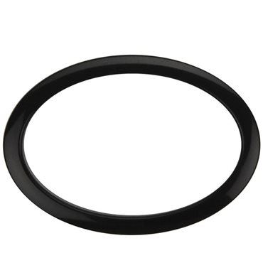"Bass Drum O's Oval Bass Drum Port 6"" Black"