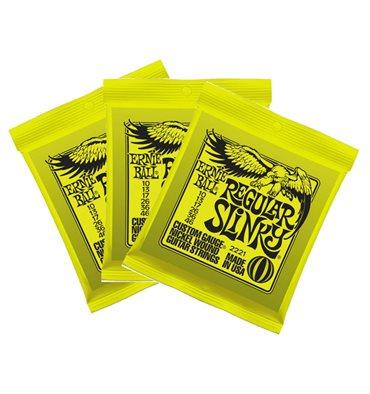 Ernie Ball 2221 Regular Slinky Nickel Wound Electric Strings 3-Pack